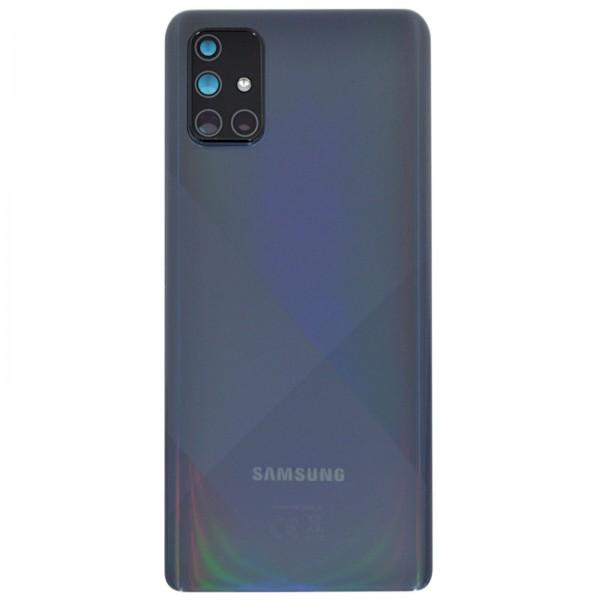 Samsung Galaxy A71 (A715F) Original Akkudeckel Serviceware Prism Crush Black GH82-22112A