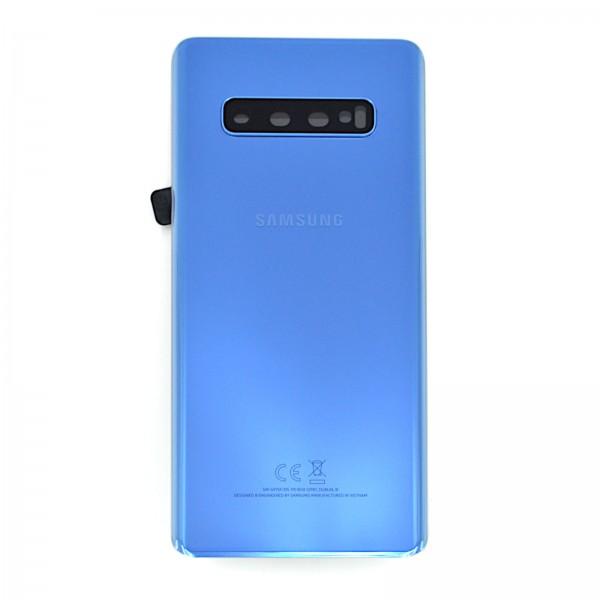 Samsung Galaxy S10 Plus (G975F) Original Akkudeckel Serviceware Ceramic Prism Blue GH82-18406C