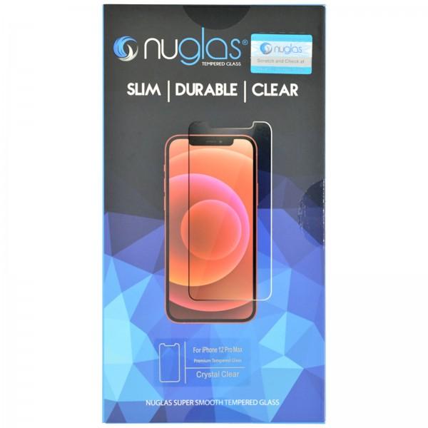 iPhone 12 PRO MAX Schutzfolie Panzerglas Tempered Glass NUGLAS mit Blister