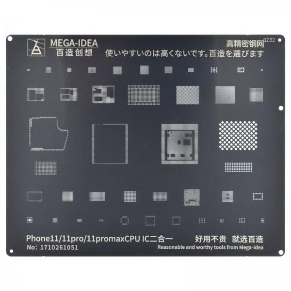 QIANLI Stencil BZ32 f. iPhone 11/11Pro/11 Pro Max CPU & IC