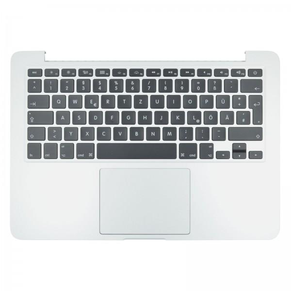 """Topcase mit Tastatur, Trackpad und Backlight für MacBook Pro 13"""" (A1502 2013/2014 EMC 2875) silver QWERTZ"""