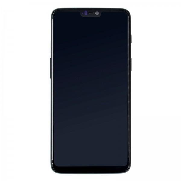 Oneplus 6 A6000 ori refurbished Displayeinheit mit Rahmen schwarz