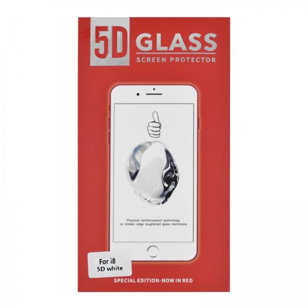 iPhone 7/8 3D/5D-Panzerglas weiß