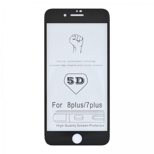 iPhone 7+/8+ 3D/5D-Panzerglas schwarz