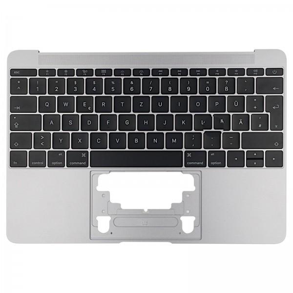 """Topcase mit Tastatur für MacBook Retina 12"""" (A1534 2015) spacegrey QWERTZ"""
