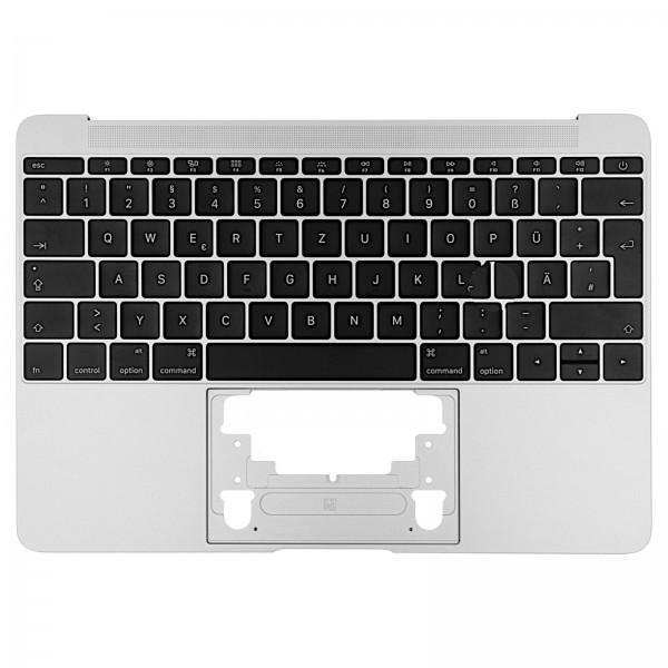 """Topcase mit Tastatur für MacBook Retina 12"""" (A1534 Early 2016) silver QWERTZ"""