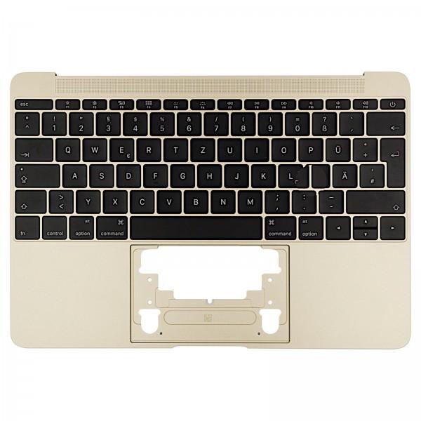 """Topcase mit Tastatur für MacBook Retina 12"""" (A1534 Early 2016) gold QWERTZ"""