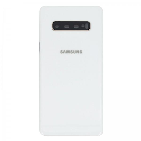 Samsung Galaxy S10 Plus (G975F) Original Akkudeckel Serviceware Ceramic White GH82-18867B