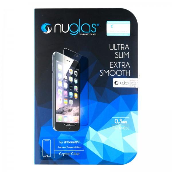 iPhone 7/8/SE 2020 Schutzfolie Panzerglas Tempered Glass NUGLAS mit Blister