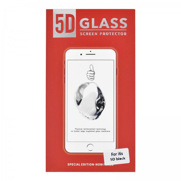 iPhone 6/6S 3D/5D-Panzerglas schwarz