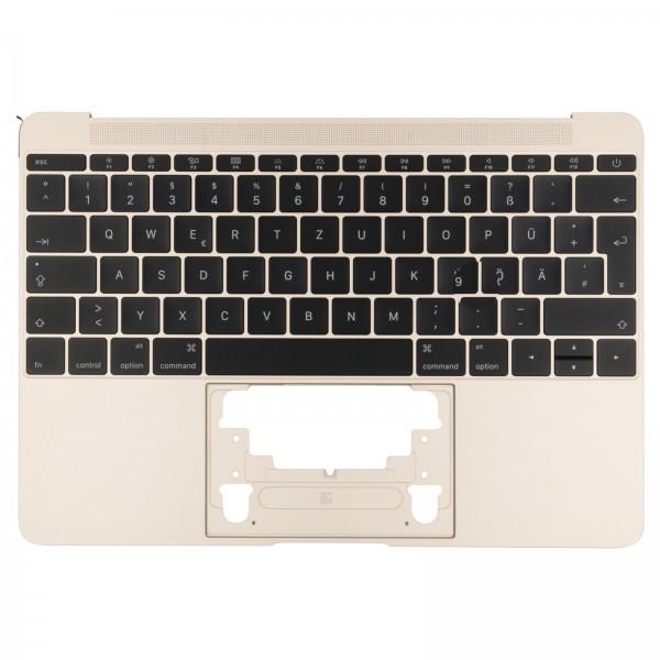 """Topcase mit Tastatur für MacBook Retina 12"""" (A1534 2015) gold QWERTZ"""