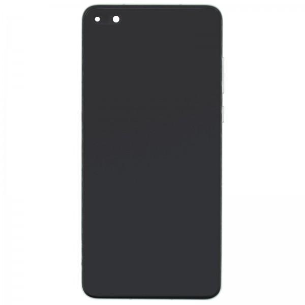 Huawei P40 Original Displayeinheit Serviceware Silver Frost 02353MFW