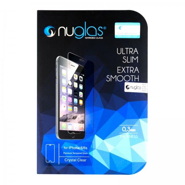 iPhone 6/6S Schutzfolie Panzerglas Tempered Glass NUGLAS mit Blister