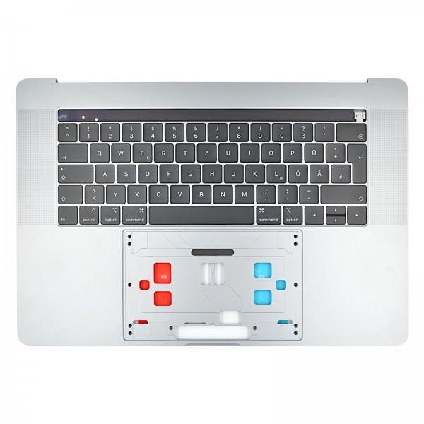 """Topcase mit Tastatur & Touch Bar für MacBook Pro 15"""" (A1990 EMC3215) spacegrey QWERTZ"""