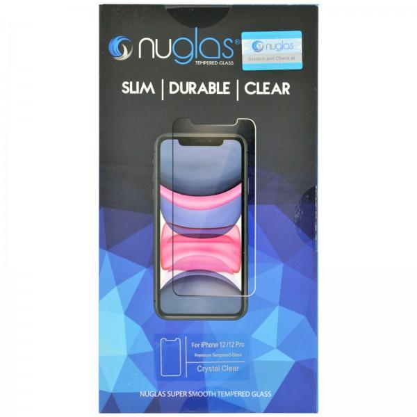 iPhone 12 / 12 PRO Schutzfolie Panzerglas Tempered Glass NUGLAS mit Blister