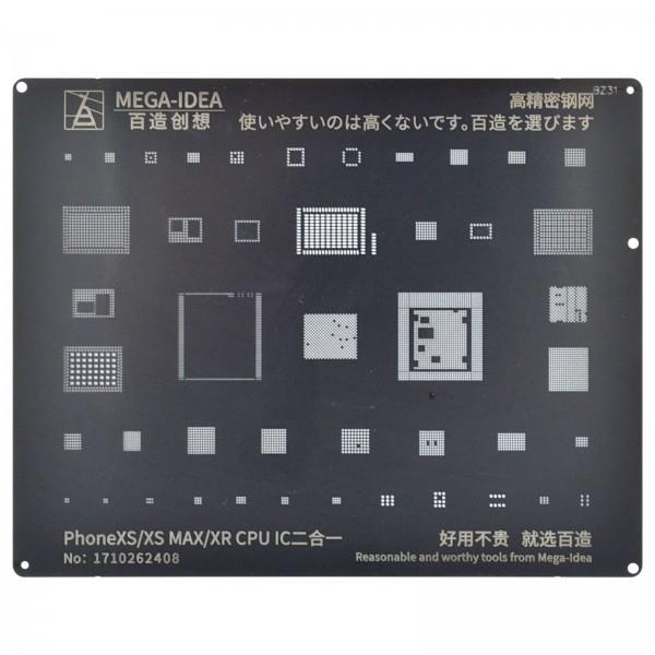 QIANLI Stencil BZ31 f. iPhone XS/XS Max/ XR CPU & IC