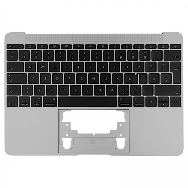 """Topcase mit Tastatur für MacBook Retina 12"""" (A1534 Early 2016) spacegrey QWERTZ"""