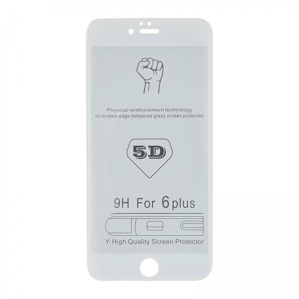 iPhone 6+/6S+ 3D/5D-Panzerglas weiß