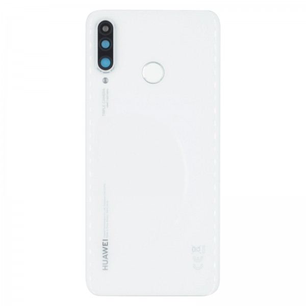 Huawei P30 Lite / P30 Lite New Edition Backcover Akkudeckel Serviceware Pearl White 02352RQB